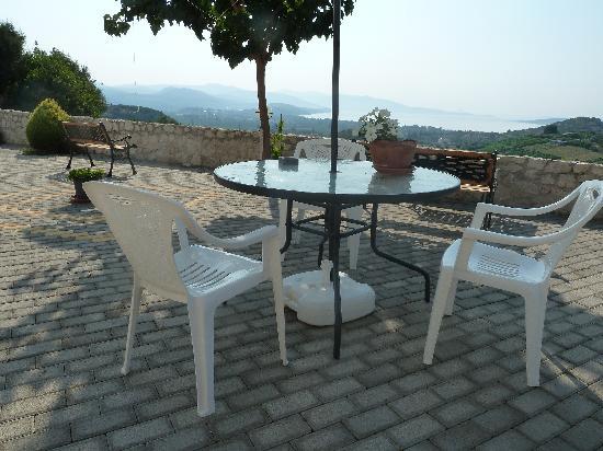 Villa Vista : la table sous les muriers