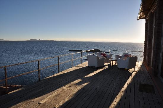 Titilaka: View from outside deck of Lake Titicaca