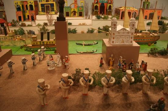 Museum of International Folk Art: diorama with sailors, gondolas, and more