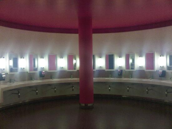 Salford, UK: Be sure to visit the restrooms--they are straight out of a Stanley Kubrick film!