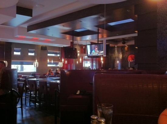 Moxie's Grill & Bar: View from our lounge booth.