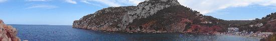 Playa La Granadella: panoramica