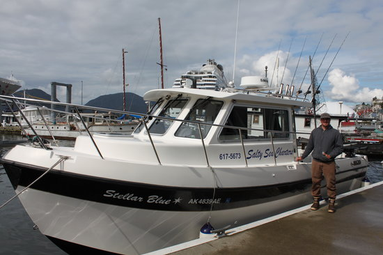 Salty Sea Charters : Josh and his awesome boat!