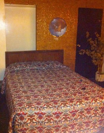 Columbus Motor Inn: Queen bed (one of two in my room)