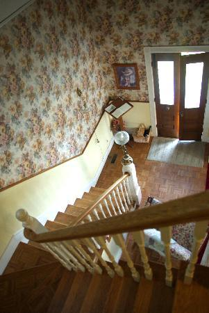 Tayberry Victorian Cottage B&B: The staircase to the dining room and entrance