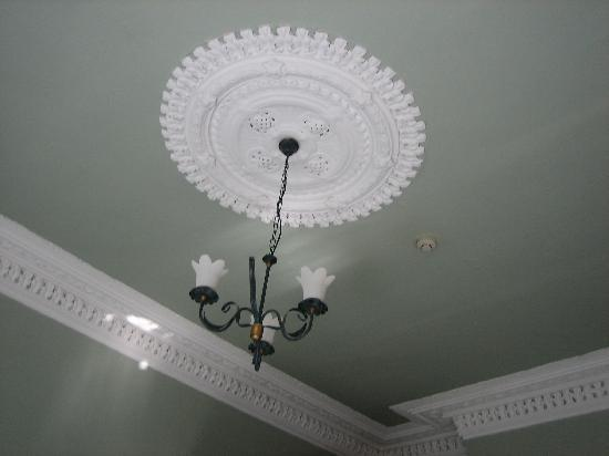Arranmore House: Detail of the ceiling of our room