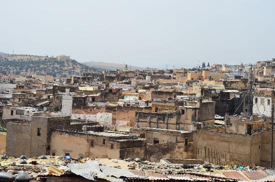 Dar Iman: The Fez Medina.  Taken from the surrounding hills