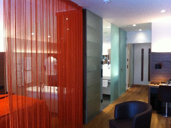 Hotel Restaurant Spa Rosengarten: Blick aus dem Wohnbereich