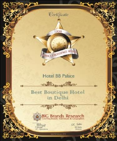 Hotel BB Palace: Awarded The Best Boutique Hotel By Big Brand ..