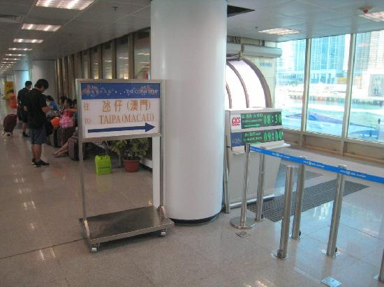 Cotai Water Jet: Departure area at HK China Ferry Terminal