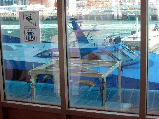 Cotai Water Jet: Checkin out the CotaiJet from inside the departure lounge