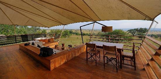 Serengeti Bushtops Camp: Terrasse 1