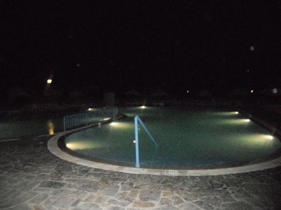 Evripides Village Hotel: pool at night