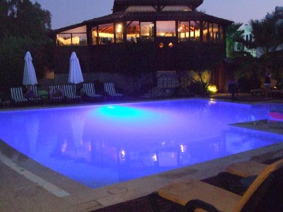 Bitez, Turki: pool at night