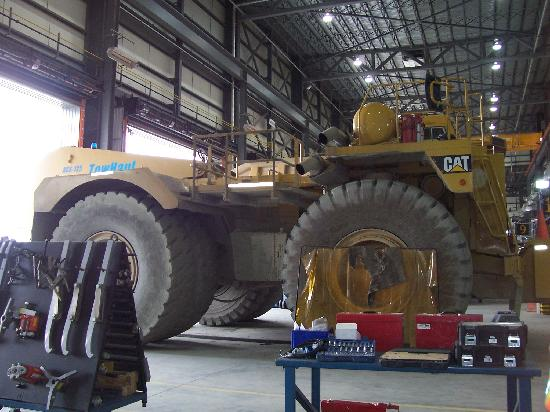 Malartic, Canada: ONe of the large machinery