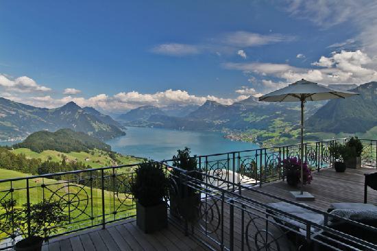 Hotel Villa Honegg : Der Blick von Zimmer 14