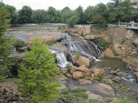 Greenville, Carolina del Sur: The falls in falls park