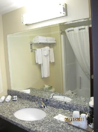 Super 8 Saskatoon Near Downtown: Bathroom