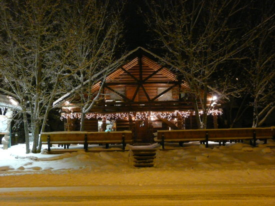 The Kicking Horse Grill in winter