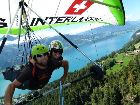 Hang Gliding Interlaken: Ed et Moi....you couldn't remove my smile if you tried