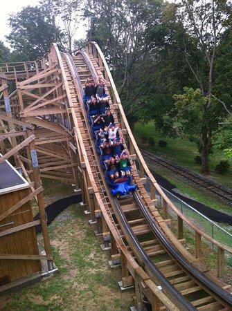 Quassy Amusement Park & Waterpark: New wooden roller coaster