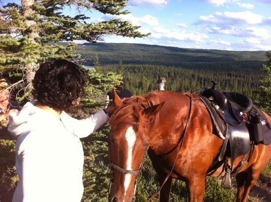 Old Entrance Trail Rides: blaze and Hanie
