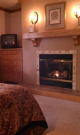 Settlement Courtyard Inn & Lavender Spa: loved the gas fireplace