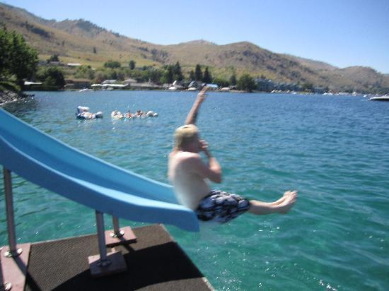 GrandView On The Lake: water slide into the lake