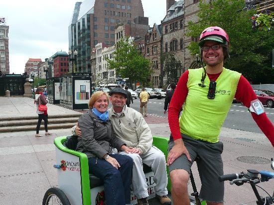 Boston Pedicab Tours : Our last day tour with Roger Lussier