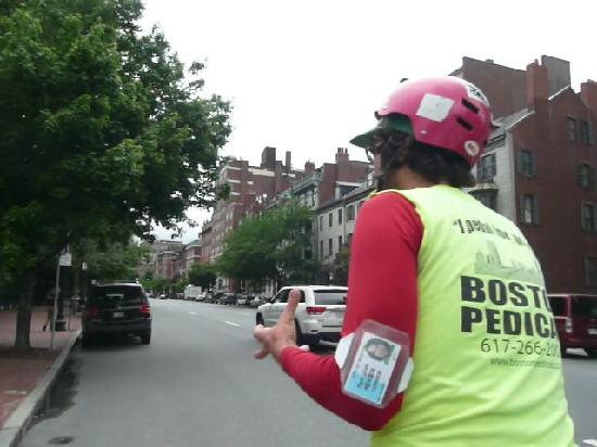 Boston Pedicab Tours : Pedicab ride through Boston