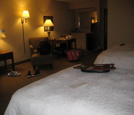 Hampton Inn Bloomsburg: Room/Desk/Extra Sink/Fridge Areas