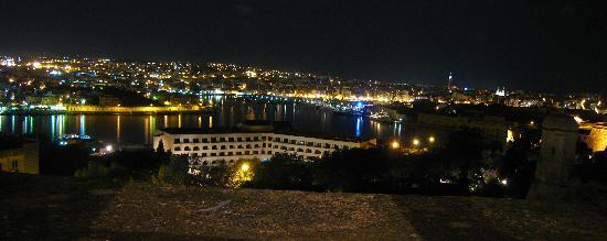 The Phoenicia Malta: View from the room by night
