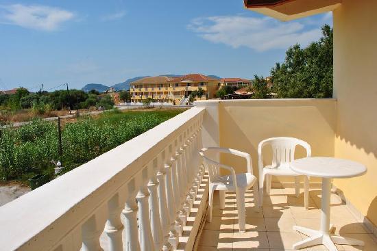 Pelouzo Hotel: The view from the room balcony