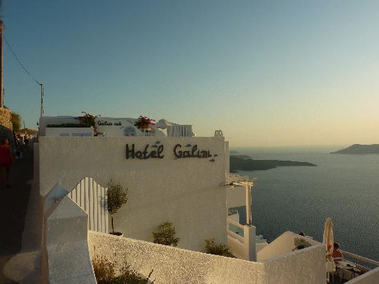 Hotel Galini: vue unique sur la caldéra