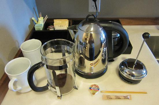 The Oxford Hotel: The Bodum coffee maker in our room