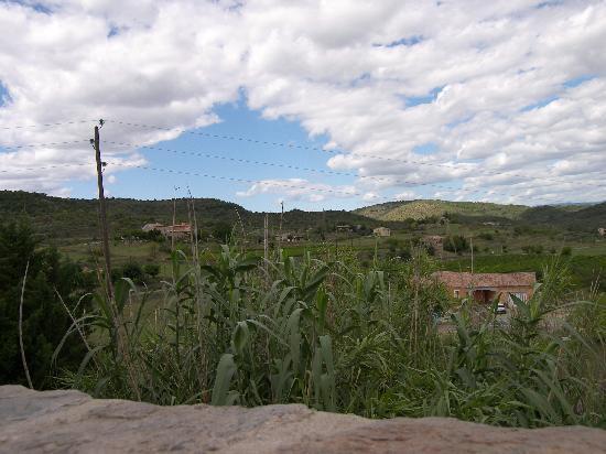 Le Mas des Fees: vue depuis la terrasse