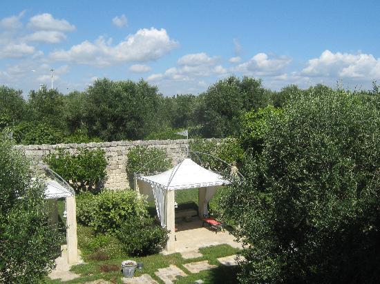 Hotel Villa Rosa Antico: de tuin, 's avonds mooi verlicht