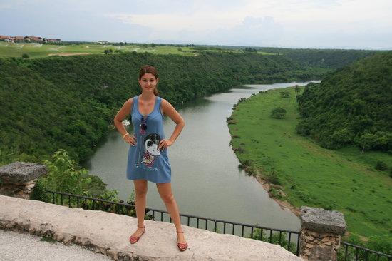 Altos de Chavon: View of the river