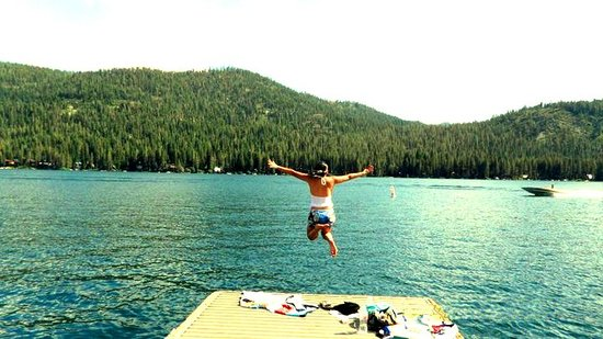 Donner Lake: Jumping off the pier