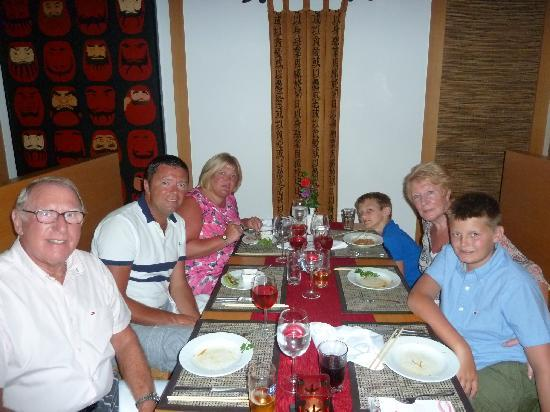 Papillon Ayscha Hotel Resort & Spa: Family in Asian theme restaurant.