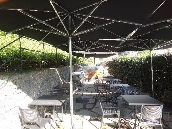 Eight Hotel Portofino : the roof top garden area