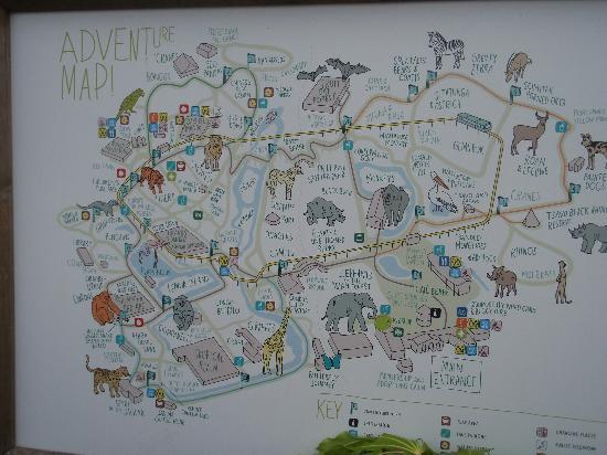 Map Of Chester Zoo