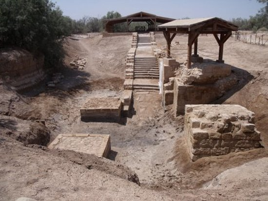 Dead Sea Region, Yordania: Baptism site at dry branch of Jordan River