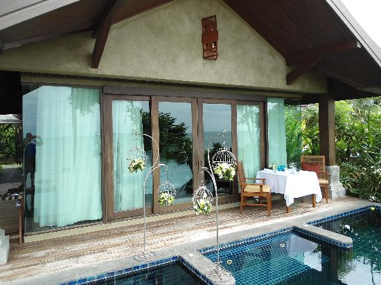 Nora Buri Resort & Spa: die kleine Veranda