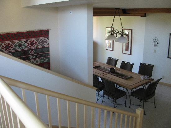 Moose Creek Townhomes: Looking down the stairs from master bedroom