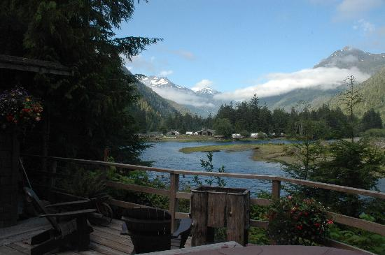 Clayoquot Wilderness Resort: View from the hot tub