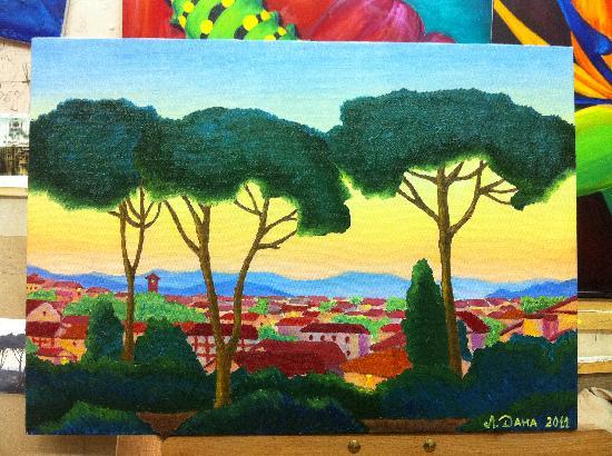 Hotel Hermitage : моя картина Утров в Тоскане