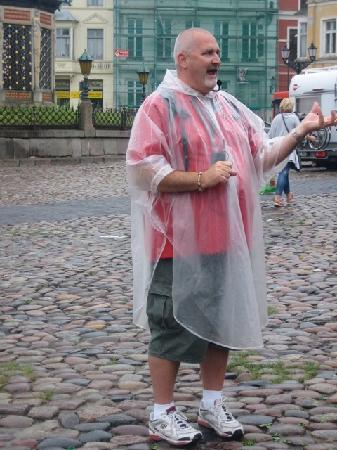 Friends of Dave Tours: Dave in the Wismar town square