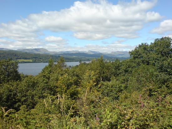 Windermere, UK: View from the car park at the top of Rayrigg Road