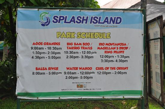 Splash Island Resort Rates